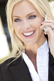 Beautiful Woman on Cell Phone Stock Photo