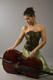 Beautiful woman with cello Stock Images