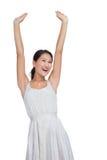 Beautiful woman cheering Stock Image