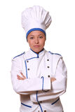 Beautiful woman in chef image Royalty Free Stock Photography