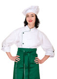 Beautiful woman in chef uniform Royalty Free Stock Photo