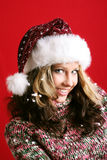 Beautiful woman on christmas Royalty Free Stock Photos