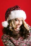 Beautiful woman on christmas Royalty Free Stock Photos