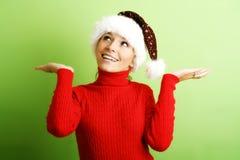 Beautiful woman on christmas Royalty Free Stock Photo
