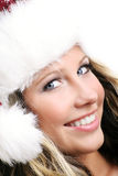 Beautiful woman on christmas Stock Photography