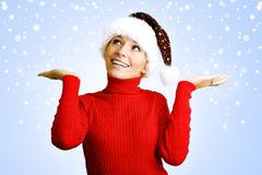 Beautiful woman at christmas Royalty Free Stock Images