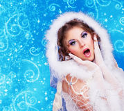 Beautiful woman, Christmas Stock Photography