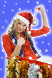Beautiful woman with christmas decoration Stock Photo