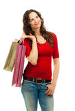 Beautiful woman christmas shopping Stock Photo