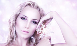Beautiful woman in Christmas style Royalty Free Stock Image