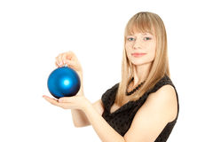 Beautiful woman with christmas toy Stock Photography