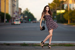Beautiful woman in the city Royalty Free Stock Images
