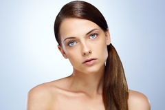 Beautiful woman with clean face Stock Image