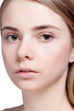 Beautiful  Woman Clean Fresh Skin close up Royalty Free Stock Images