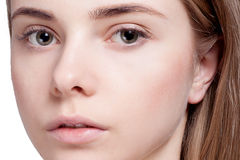 Beautiful  Woman Clean Fresh Skin close up Royalty Free Stock Image