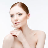 Beautiful Woman with Clean Fresh Skin Stock Images