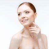 Beautiful Woman with Clean Fresh Skin Stock Image