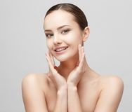 Beautiful Woman with Clean Fresh Skin Stock Photos