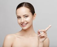 Beautiful Woman with Clean Fresh Skin Stock Photography