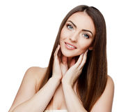 Beautiful Woman with Clean Fresh Skin Royalty Free Stock Image