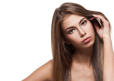 Beautiful woman with clean healthy skin Stock Photos