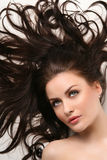 Beautiful woman with clean shiny hair Royalty Free Stock Photos