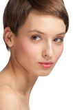 Beautiful woman with clear make-up Royalty Free Stock Photo