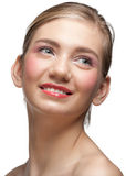 Beautiful woman with clear make-up Stock Images