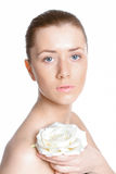 Beautiful woman with clear skin Stock Images