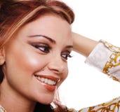 Beautiful woman close-up Stock Photography