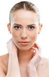 Beautiful woman close up royalty free stock photos