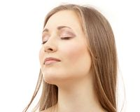 Beautiful woman with closed eyes Royalty Free Stock Photo