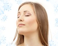 Beautiful woman with closed eyes Royalty Free Stock Image