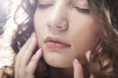 Beautiful woman with closed eyes Royalty Free Stock Photos