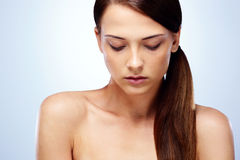 Beautiful woman with closed eyes Royalty Free Stock Photography