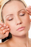 Beautiful woman with closed eyes Royalty Free Stock Images