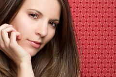Beautiful Woman Closeup Stock Image