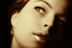 Beautiful woman closeup Royalty Free Stock Images