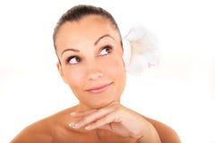 Beautiful woman closeup face portrait Royalty Free Stock Photography