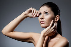 Beautiful woman closeup portrait Stock Photography