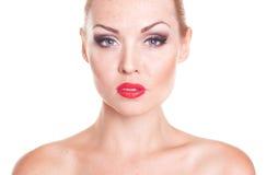 Beautiful woman closeup Royalty Free Stock Photos