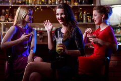 Beautiful woman in club Royalty Free Stock Images