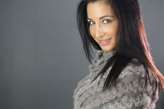 Beautiful woman with a coat Royalty Free Stock Images