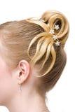 Beautiful woman coiffure Royalty Free Stock Photos