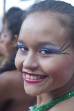 Beautiful woman of Colombia folk group Royalty Free Stock Images