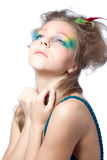 Beautiful woman  with color makeup Stock Image
