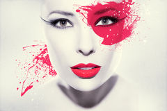 Beautiful woman. Colorful artwork with beautiful woman Royalty Free Stock Image