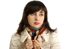 Beautiful woman in colorful scarf Stock Image