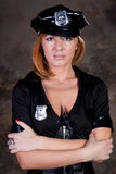 Beautiful woman comic police Stock Image