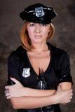 Beautiful woman comic police Stock Image